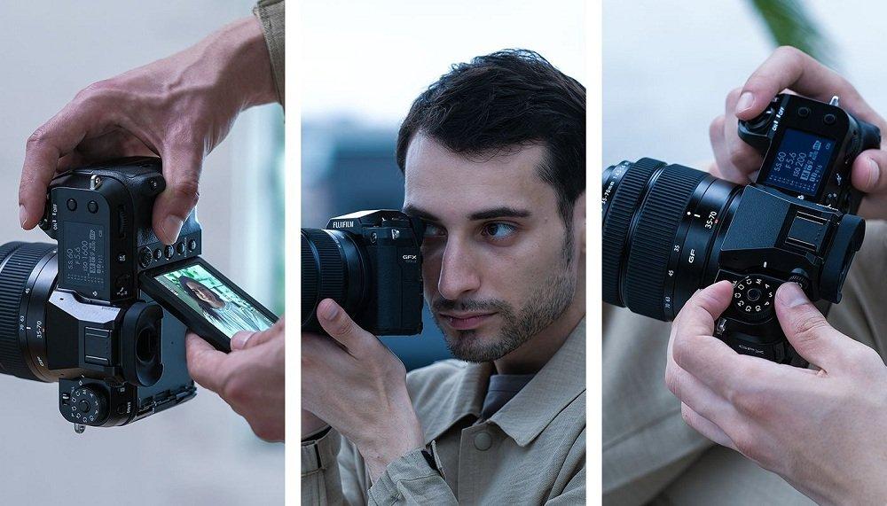 Fujifilm GFX 50S II với thiết kế trực quan