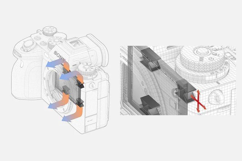 Sony Alpha 1 - Thiết kế tản nhiệt hỗ trợ quay video