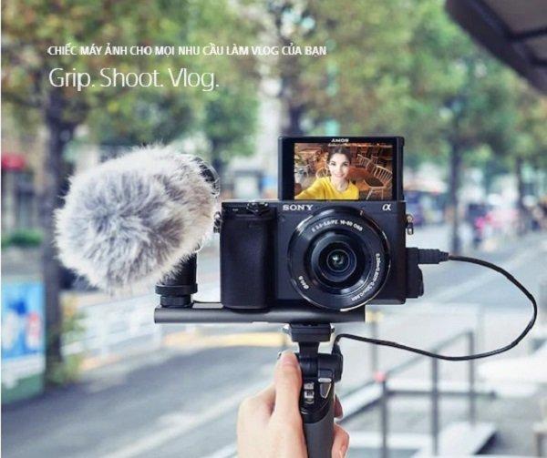 Sony A6400 chiếc máy ảnh cho mọi công việc làm vlog
