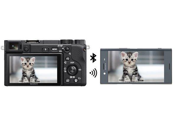 kết nối không dây trên máy ảnh mirroless sony a6400
