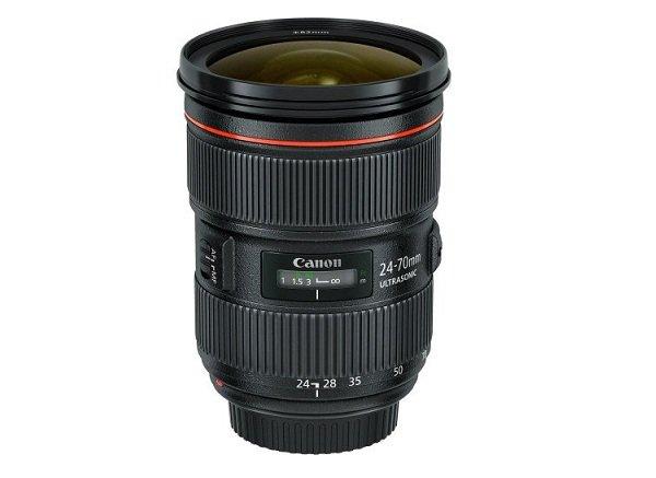 Canon EF 24-70mm f/2.8L II USM có trọng lượng 805g