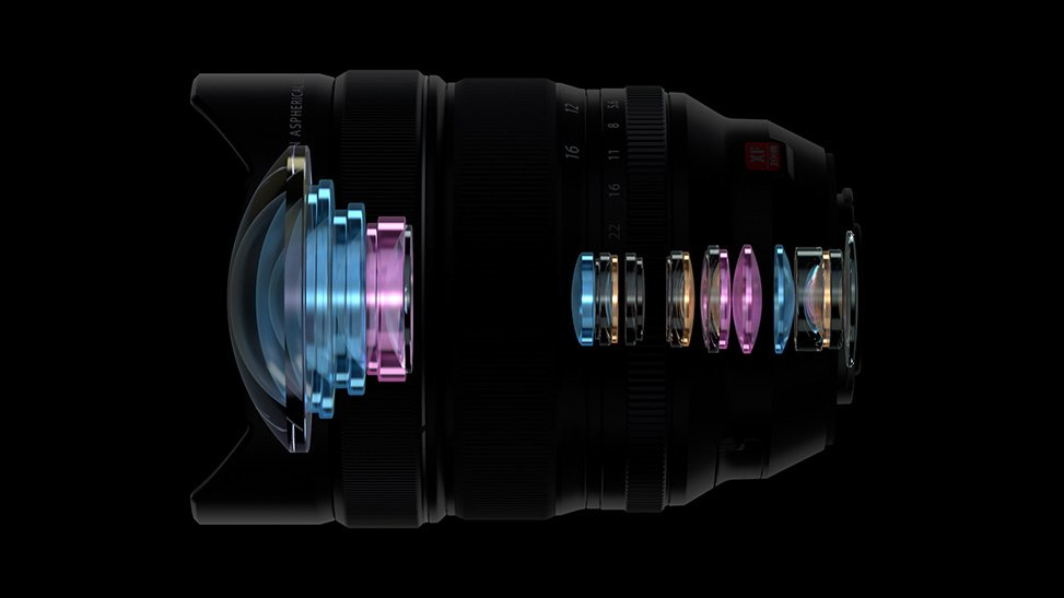 Thiết kế quang học ống kính Fujifilm XF 8-16mm f28 R LM WR