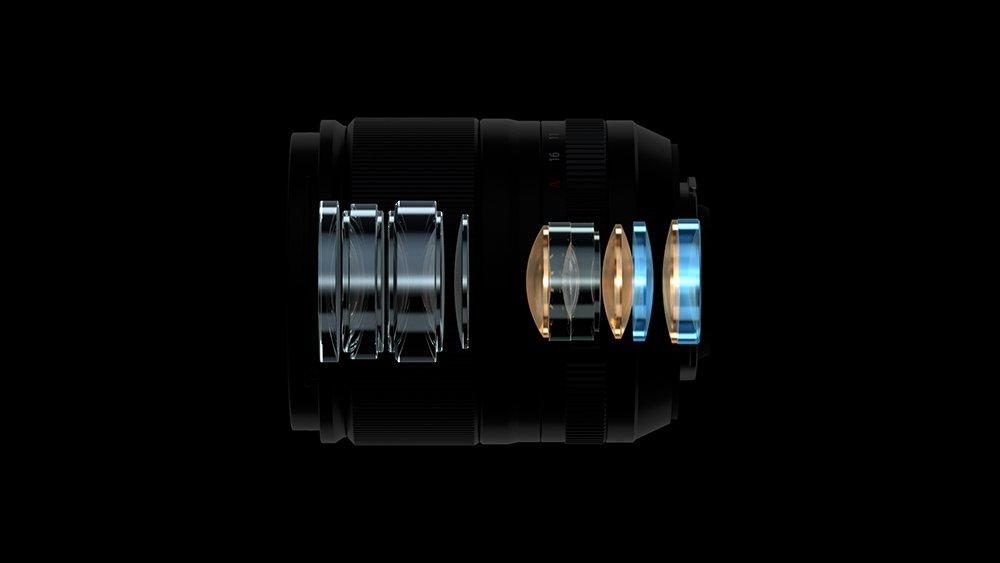 Cấu tạo quang học của Fujifilm XF 23mm F1.4 R LM WR