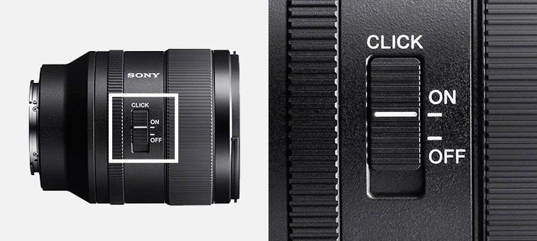 Sony FE 35mm f1.4 GM - Nút bật phản hồi xúc giác