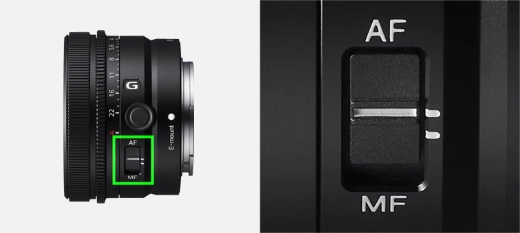 Sony FE 50mm f2.5 G - Chuyển đôi AF-MF nhanh chóng