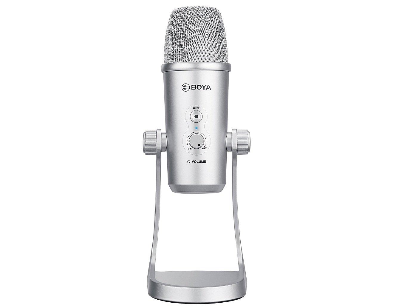 Microphone Boya BY-PM700SP với thiết kế giá đỡ chân tiện lợi